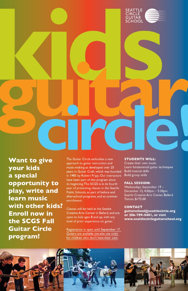 SCGS Kids Guitar Circle Fall 2012 poster
